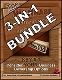 ENTREPRENEURSHIP - KEY 3: Consider YOUR Business Ownership Options 3-in-1 BUNDLE