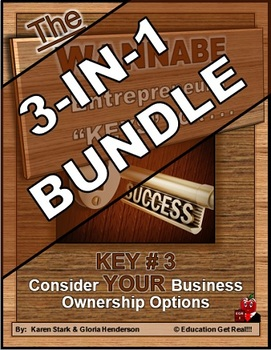ENTREPRENEURSHIP - KEY 3: Consider YOUR Business Ownership Options 3-in-1 BUNDLE