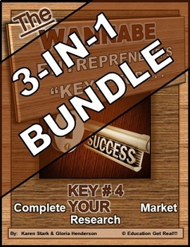ENTREPRENEURSHIP - KEY 4: Complete YOUR Market Research 3-in-1 BUNDLE
