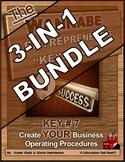 ENTREPRENEURSHIP - KEY 7: Create YOUR Business Operating Procedures 3-in-1BUNDLE