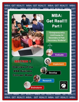 """ENTREPRENEURSHIP – MBA: Get Real!!!  Part 1  Section #1 """"In-School Business"""""""