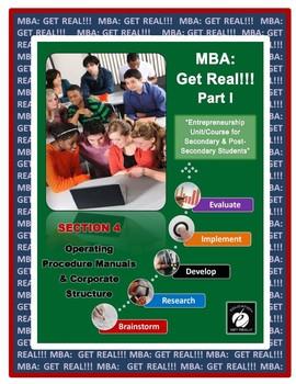 "ENTREPRENEURSHIP – MBA: Get Real!!!  Part 1  Section #4 – ""Teacher TOOLS"""