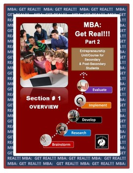 "ENTREPRENEURSHIP ""Expanding Student Business: MBA Part 2"" (Section 1) ""OVERVIEW"""