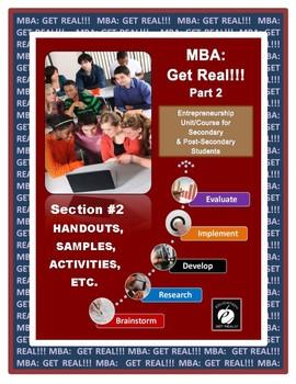 "ENTREPRENEURSHIP ""Expanding the Business MBA Part 2"" (Section 2) ""TEACHER TOOLS"""