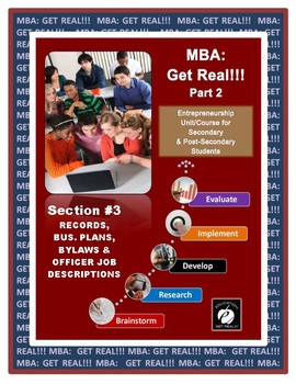 "ENTREPRENEURSHIP ""Expanding the Business: MBA Part 2"" (Section 3) ""PROCEDURES"""