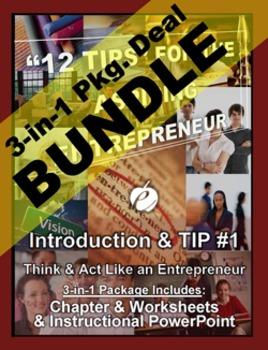 "ENTREPRENEURSHIP  - Tip #1: ""Think & Act Like..."" 3-IN-1 BUNDLE (""12 TIPS"")"