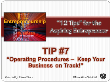 "ENTREPRENEURSHIP PPT - Tip #7: ""Operating Procedures"""