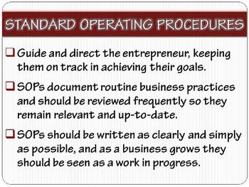 "ENTREPRENEURSHIP PPT - Tip #7: ""Operating Procedures"""