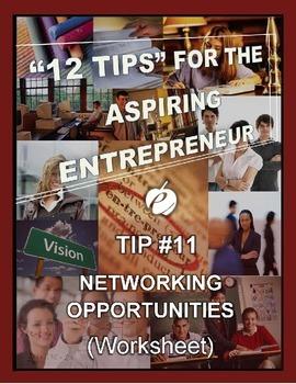 ENTREPRENEURSHIP:  Tip #11 - WORKSHEET