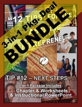 "ENTREPRENEURSHIP - Tip #12: ""Next Steps - Expanding.."" 3-IN-1 BUNDLE (""12 TIPS"")"