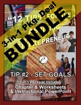 """ENTREPRENEURSHIP - Tip #2: """"Set Goals"""" 3-IN 1 BUNDLE (""""12 TIPS""""...)"""