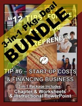 """ENTREPRENEURSHIP - Tip #6: """"Start-Up Costs &  ..."""" 3-IN-1 BUNDLE (""""12 TIPS"""")"""