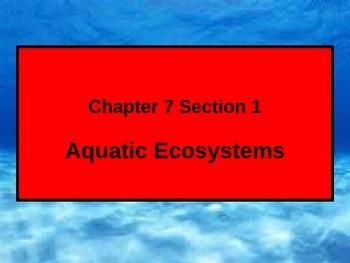 ENVIRONMENTAL SCIENCE AQUATIC ECOSYSTEMS