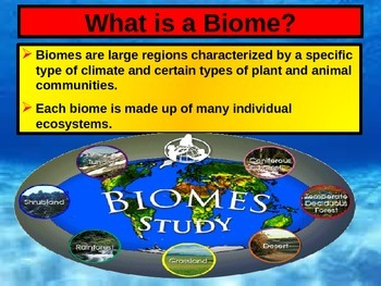 ENVIRONMENTAL SCIENCE BIOMES POWERPOINT WITH FILL IN NOTES