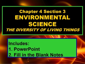 ENVIRONMENTAL SCIENCE DIVERSITY OF LIVING THINGS