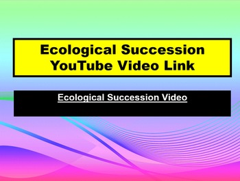 ENVIRONMENTAL SCIENCE Ecological Succession