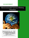 ENVIRONMENTAL SCIENCE HISTORY TIMELINE . . . 26-Pages . . .SALE $8.50