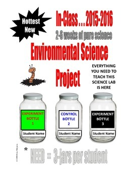 ENVIRONMENTAL SCIENCE IN-CLASS PROJECT  . . .2-6 WEEKS of PURE SCIENCE