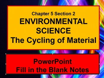 ENVIRONMENTAL SCIENCE The Cycling of Matter PowerPoint