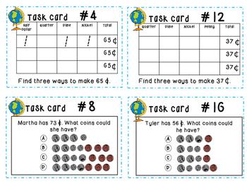 enVision 1.0 MATH Grade 2 Task Cards for test prep (Units 1-5)