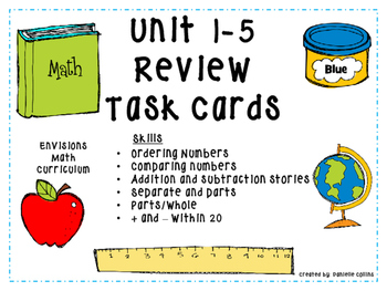 enVision MATH Grade 2 Task Cards for test prep (Units 1-5)
