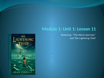 ENY ELA grade 6 Module 1 Unit 1 Lesson 11 The Lightning Thief