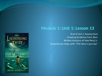 ENY ELA grade 6 Module 1 Unit 1 lesson 13 The Lightning Thief