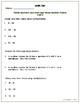 Common Core Math Assessment - 5th Grade (Module 2 Topic F)