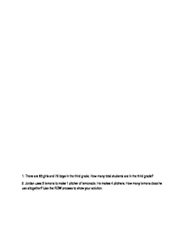 ENY Math Problem Solving Booklet 3.1
