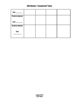 ENY Mid Module 3.1 Observation checklist