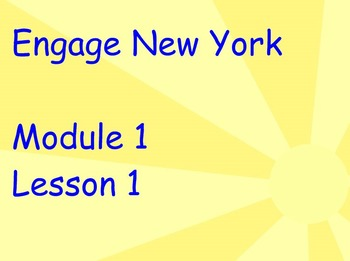 ENY Module 1 Lesson 1