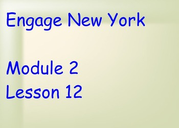 ENY Module 2 Lesson 12