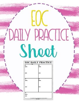 EOC Daily Practice Sheet
