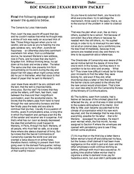 EOC English 2 Review Packet by WatsonWorldLit | Teachers ...