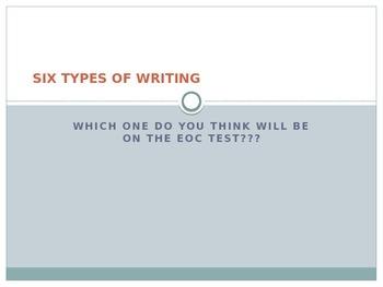 EOC PREP - TYPES OF WRITING