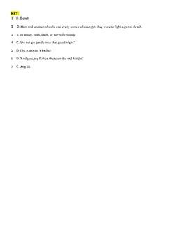 EOC Practice! Poem + 7 Questions