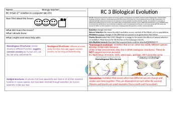 EOC REVIEW-Evolution and Natural Selection Online Activity