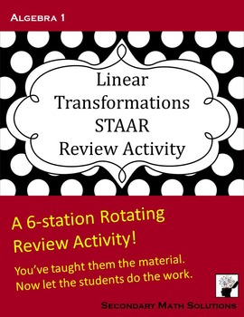 STAAR Review: Linear Transformations