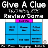 EOC Review US History:  Give A Clue Review Game!  STAAR Review EDITABLE