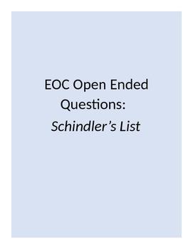 EOC STAAR Short Answer Questions- Schindler's List