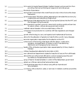 EOC US History Vocabulary 1970's – 2000's