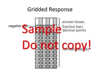 EOG Gridded Response Practice - Common Core - 6th Grade Math