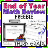 End of Year Math Review Freebie for Third Grade