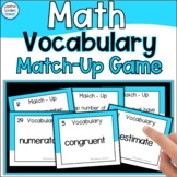 Math Vocabulary Review Match-up Game