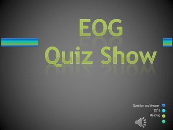 EOG Reading terms review quiz show