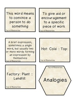 EOG Practice: Reviewing EOG Terms