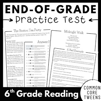 EOG Practice Test | 6th Grade Reading Comprehension Passages and Questions