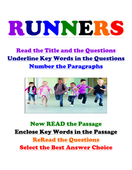 EOG Reading Prep Poster: Runners- Live In Letters Tier 3