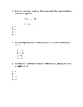 EOG Review- Multiplication & Division