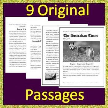 NC EOG Test Prep Reading Assessments BIG Bundle Grades 6 - 8 NC Ready EOG